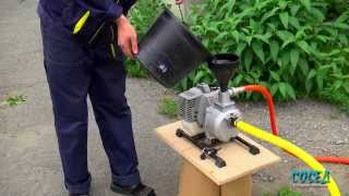 как превратить Вашу бензокосу в мото-помпу