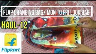 Shopping/Haul-12, FLAP CHANGING SCHOOL BAG FROM FLIPKART, MON-FRI LOOK SCHOOLBAG