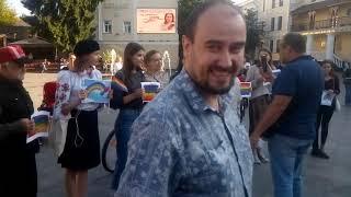 Конфлікт між націоналістами та прихильниками лгбт у Житомирі