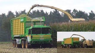 Maisernte mit umgebautem MAN-LKW | Krone Big X 1100 | Krone TX 460 TX 560 | Joskin | LU Ruhland