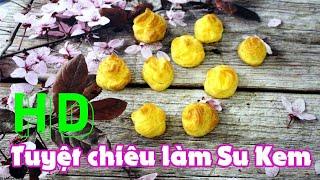 [HD] How to make Cream Puff 🍁 Cream Puff Recipe Cake 💯 Huong Gia Bakery 💯