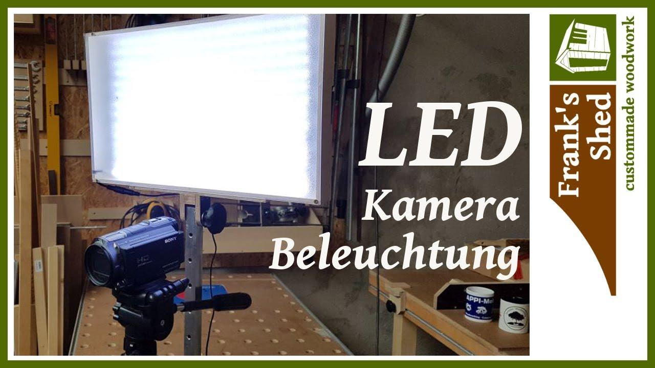 led beleuchtung f r kamera selber bauen diy anleitung einfach franks shed youtube. Black Bedroom Furniture Sets. Home Design Ideas
