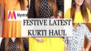 How to buy kurtis online | Myntra Affordable & Amazing Kurti Haul FOR ALL FESTIVE OCCATION