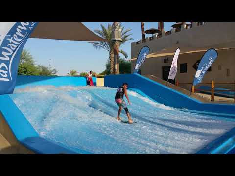 Sean Silveira Dubai Surf Barrel FlowRider FLOW Barrel #Shorts and Fails Yas Waterworld Waterpark UAE