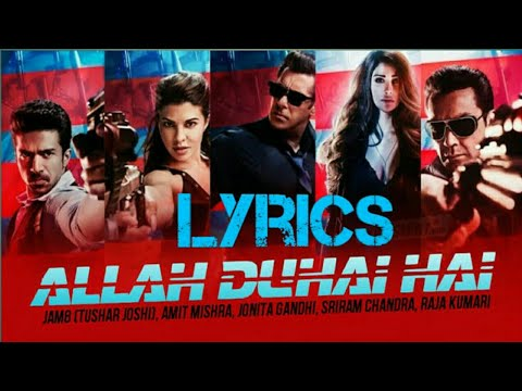 Allah Duhai Hai (Race 3) - Full Song Lyrics Video_____Salman Khan,Amit Mishra