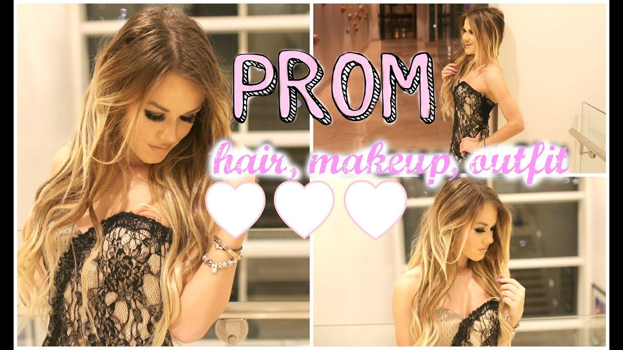 prom hair, makeup, and outfit inspiration - youtube
