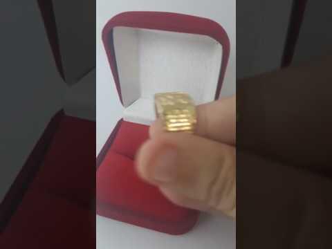 Anel São Jorge Oração Banhado a Ouro 18k