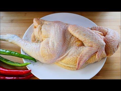 一整隻雞這樣吃才最過癮,不加水不放油,鮮嫩多汁,做法簡單,比豉油雞還香【夏媽廚房】 - Видео онлайн