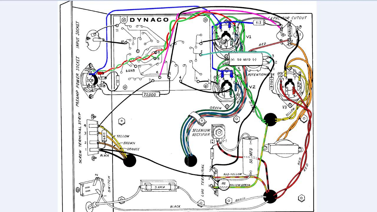 dynaco dynakit amplifier part 3 mkiii vaccum tube amplifier wiring rh youtube com wiring diagram for amp capacitor wiring diagram for amp gauge generarter