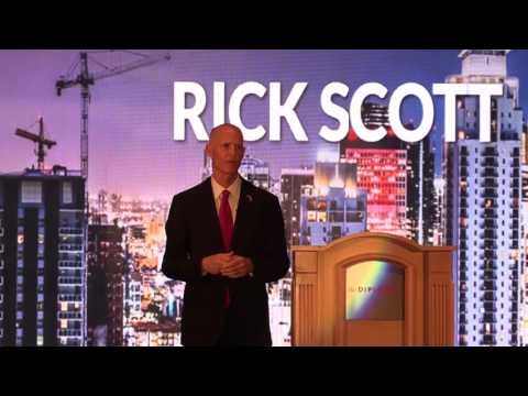 Jobs by Rick Scott, Governor of Florida. Miami 2017