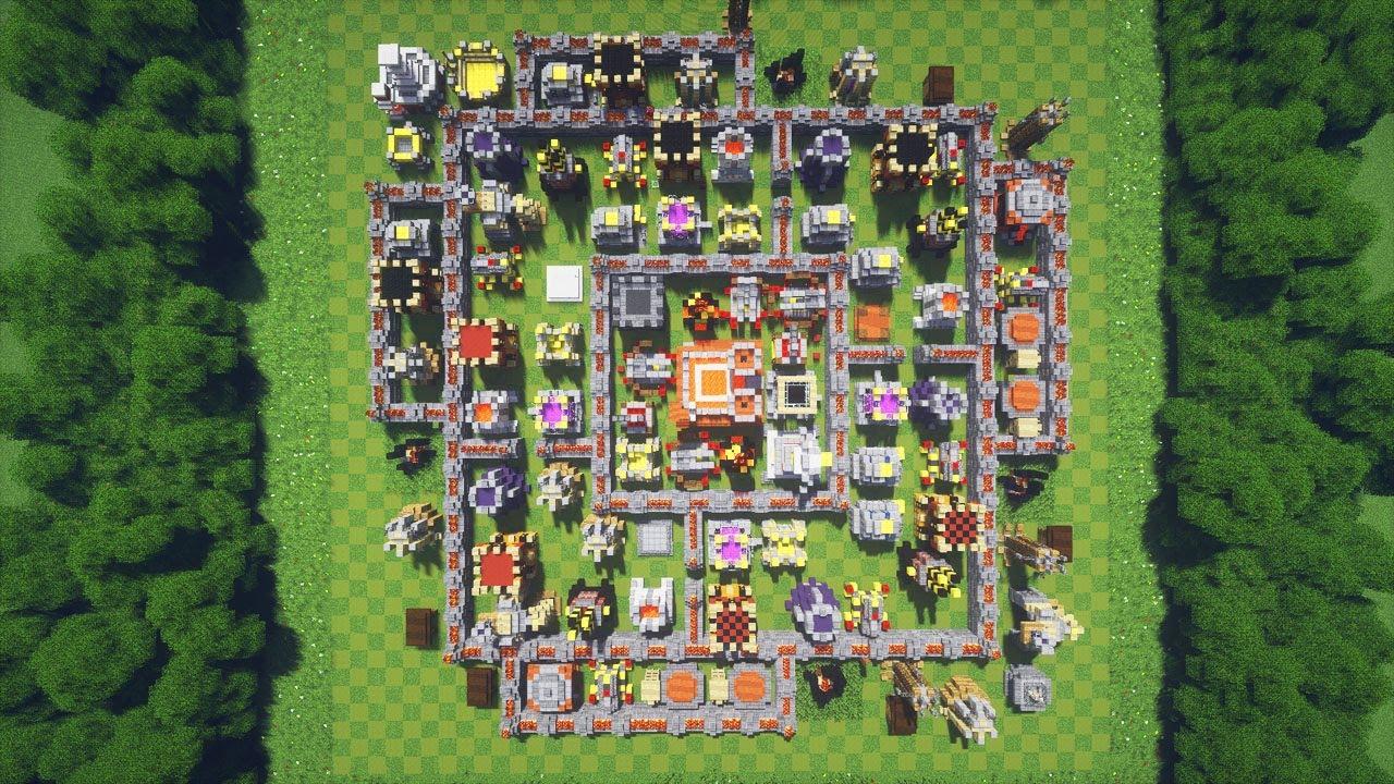 Карта на майнкрафт 1.7.10 clash of clans