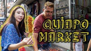 Korean's first-ever Filipino street food tour at QUIAPO MARKET in Manila / 마닐라 키아포 시장 투어
