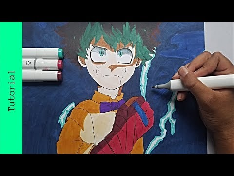 How to draw Izuku Midoriya| Deku| My Hero Acadamia: Two Heroes| Tutorial