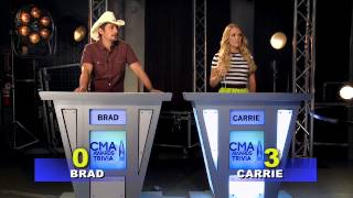 """CMA Awards Trivia"" with Brad Paisley & Carrie Underwood!"