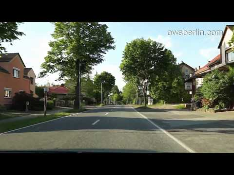 Driving from Wünsdorf to Berlin, Germany. Поездка из Вюнздорфа в Берлин.