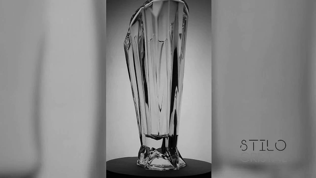 jarrn florero angle cm cristal de bohemia