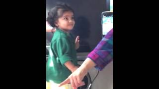 Cute indian baby arguing with mom video