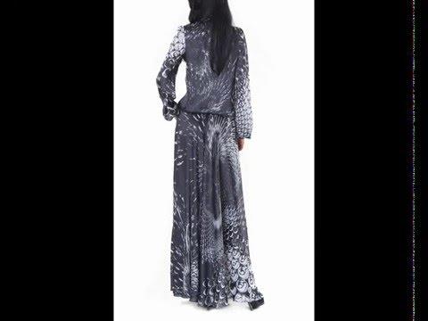 Шифоновые платья. Дизайнерское платье с ручной росписью
