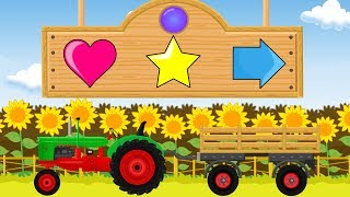 Traktor Bajka Dla Dzieci Kolory i Kształty | Tractor Tale For Children Colors and Shapes