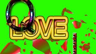 Q Love I Letter Green Screen For WhatsApp Status | Q & I Love,Effects chroma key Animated Video