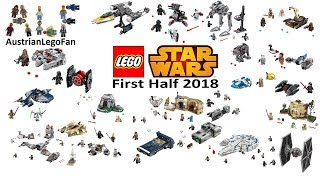 Lego Star Wars First Half 2018 - Compilation of all Sets - Lego Speed Build Review