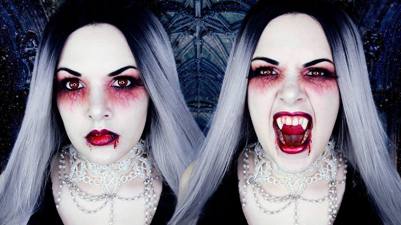 vampire halloween makeup tutorial cherry wallis youtube