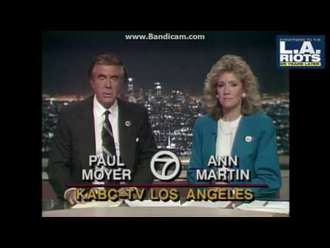 KABC 1992 5pm Open LA Riots Wall-to-Wall Coverage