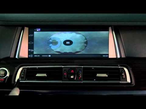 BMW 7 series (F01/02) + BGT-MNS42 - мультимедийные возможности на штатном мониторе