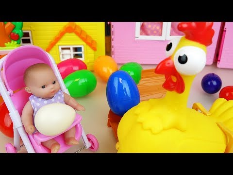 Thumbnail: Chicken and Baby doll surprise eggs and Hello kitty kitchen toys play