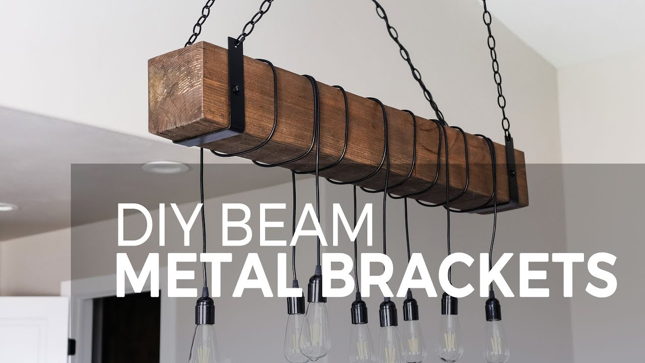medium resolution of diy farmhouse wood beam chandelier