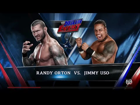 WWE 2K15- Jimmy Uso vs Randy Orton Normal match 2015 (PS4)