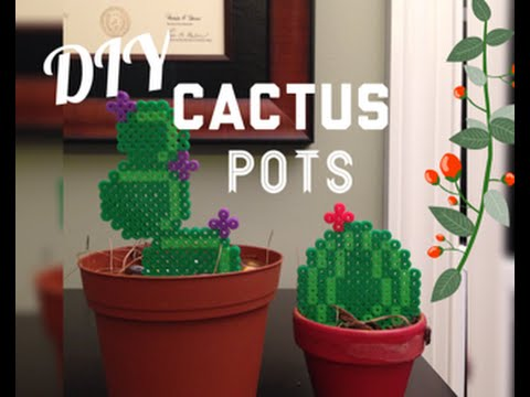 Diy Perler Bead Cactus Potscute Cactus Room Decor Youtube