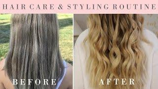 HOW I SAVED MY HAIR! + Loose, Beachy Waves Tutorial