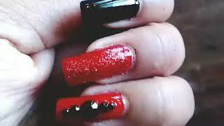 Nail art tutorial.