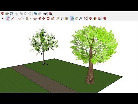 How to Add 3D Trees to Sketchup Model ?