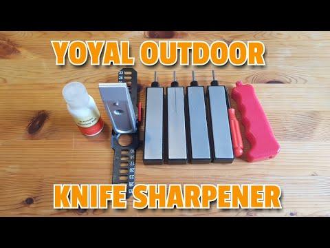 ✔ YOYAL OUTDOOR KNIFE SHARPENER ☆ Lansky  Stil ☆ European Knife Passaround YT Reviewers Grou