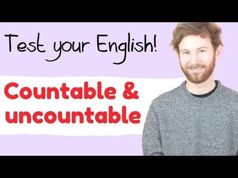 ¿Contable o incontable? 🙄 TEST YOUR ENGLISH!