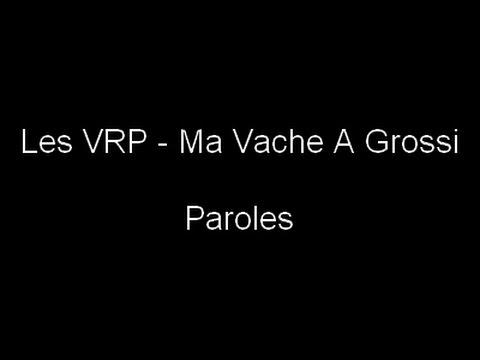 LES VRP - Ma Vache A Grossi (Paroles)