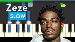 Kodak Black ZEZE ft Travis Scott & Offset Slow Easy Piano Tutorial with Chords