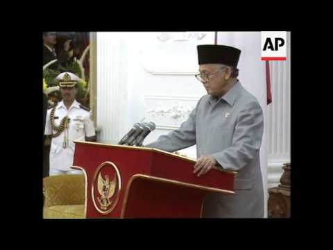 INDONESIA: NEW PRESIDENT B J HABIBIE ANNOUNCES NEW CABINET