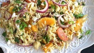 {pasta Recipe} Citrus Orzo Salad By Cookingforbimbos.com