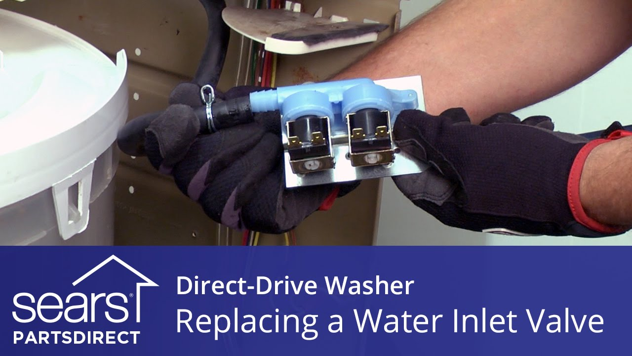 hight resolution of replacing the water inlet valve in a direct drive washer kenmore whirlpool and maytag