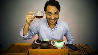 Tasting a Famous Rock Oolong Tea