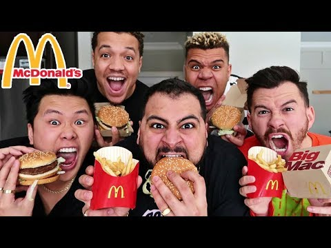 EPIC McDONALD'S BIG MAC MEAL SPEED EATING CHALLENGE!! (UNDER 1 MINUTE)