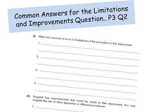 P3 Limitations And Improvements A Level Physics