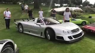 100mph through a forest in the CLK GTR Roadster!! 🔥