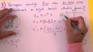 Türev Uygulaması Soru Çözümü Şenol Hoca Matematik