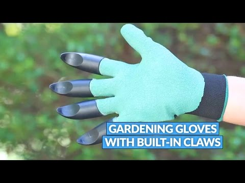 These Gardening Gloves Have Built-In Claws For Digging