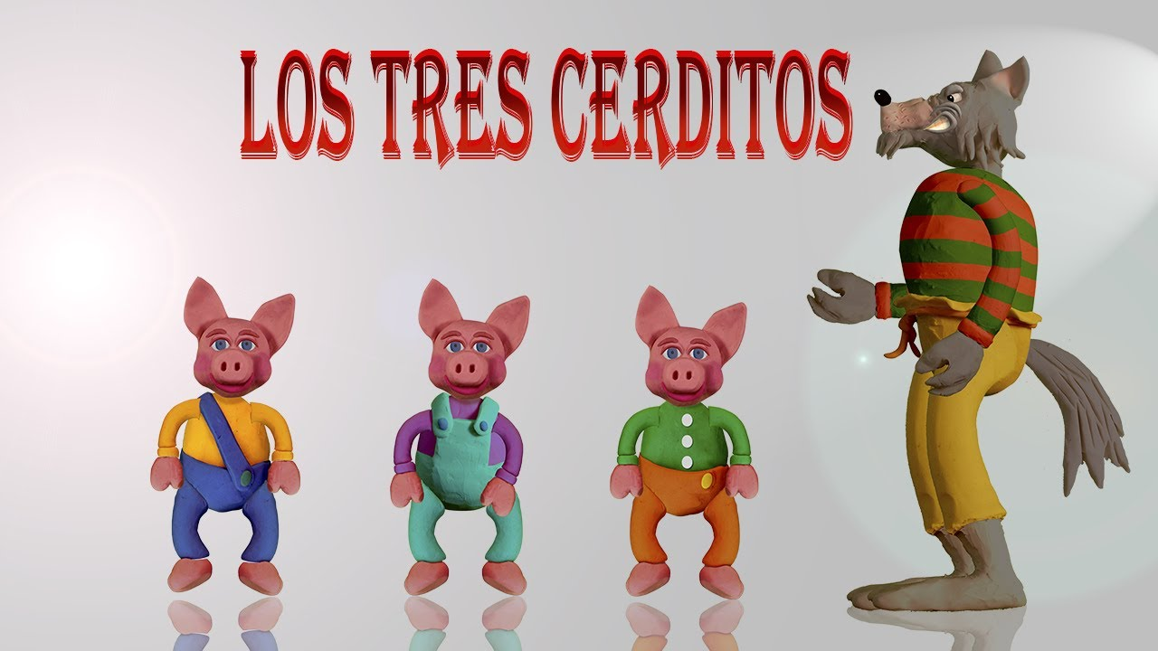 Los Tres Cerditos y El Lobo Feroz SERIE DE 3 CUENTOS. Cuento de Fabula Infantil con Moraleja