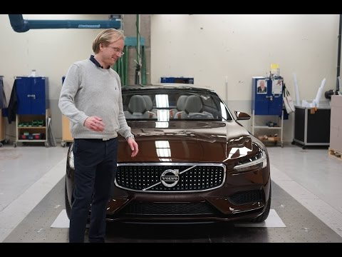 Checking out Volvo Cars protype manufacturing with the concept in FULL CARBON FIBRE
